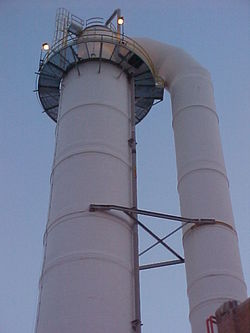 "14' 6"" X 130' High Retention Tower with 8' 6"" Upflow and Crossover Elbow"